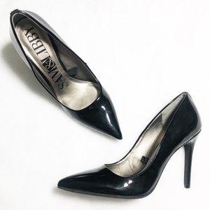 Sam & Libby Black Patent Pumps Heels Size 9